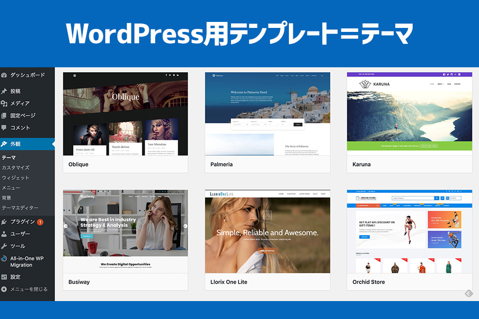 WordPress用テンプレート=テーマ